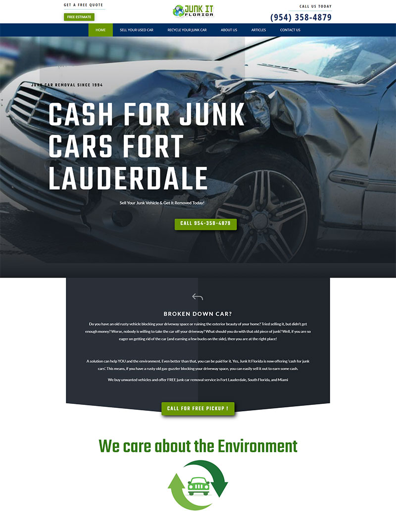 junk it florida front page